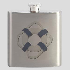 Blank Life Preserver Flask