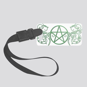 Pretty green pentacle Small Luggage Tag
