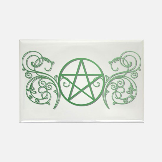 Pretty green pentacle Rectangle Magnet