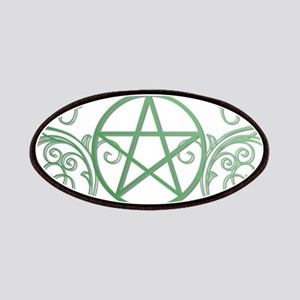 Pretty green pentacle Patches