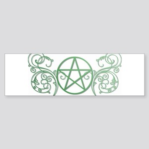Pretty green pentacle Sticker (Bumper)