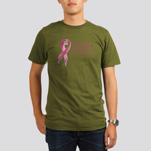 I wear pink for customized Organic Men's T-Shirt (