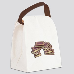 Stacked Books Gold leaf Canvas Lunch Bag