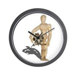 Holding Diving Helm Wall Clock
