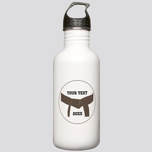 Custom Martial Arts Brown Belt Water Bottle