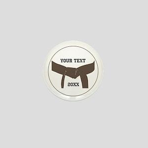 Custom Martial Arts Brown Belt Mini Button