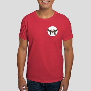 Custom Martial Arts Brown Belt Dark T-Shirt