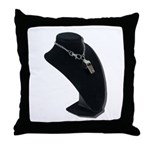 Coach Whistle on Neck Model Throw Pillow