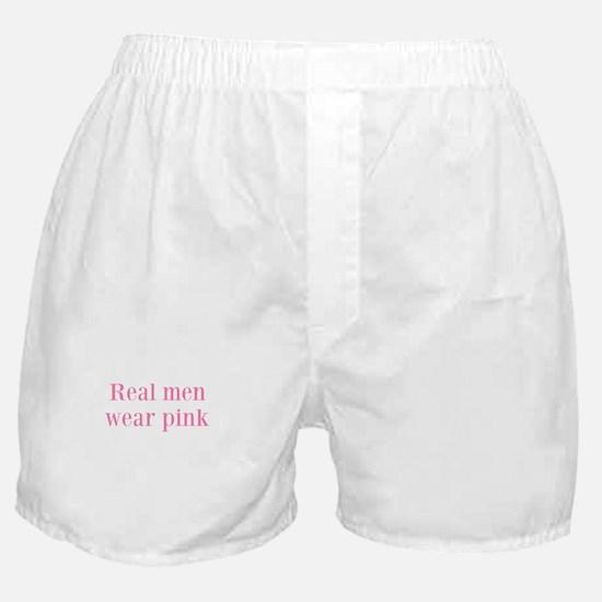 Real men wear pink Boxer Shorts