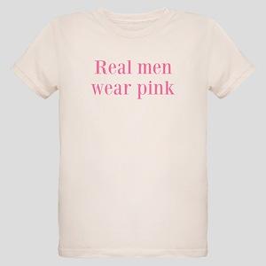 Real men wear pink Organic Kids T-Shirt