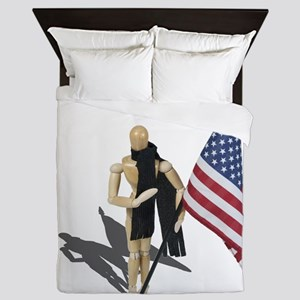 American Flag and Scarf Queen Duvet