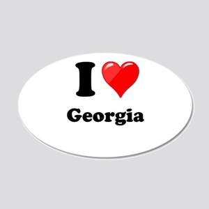 I Heart Love Geogia 20x12 Oval Wall Decal