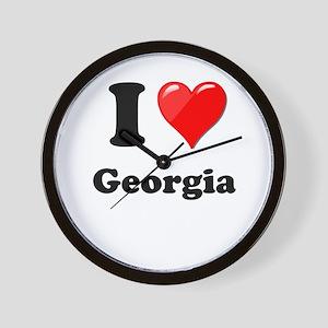 I Heart Love Geogia Wall Clock
