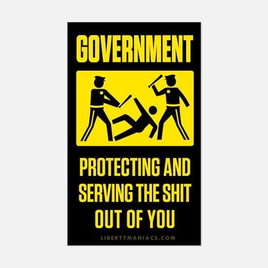 Government Satire Sticker (Rectangle)