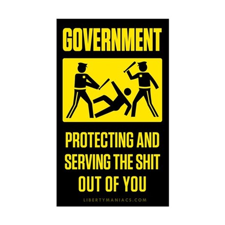 Government Satire Sticker (Rectangle 10 pk)