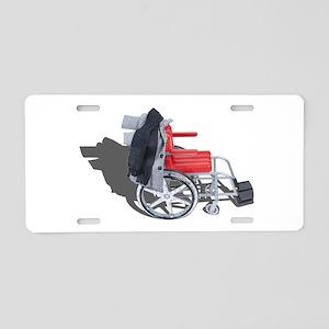 Houndstooth Jacket Wheelchair Aluminum License Pla