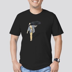 Windy Day Men's Fitted T-Shirt (dark)