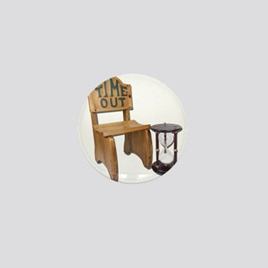Timeout Chair Hourglass Mini Button