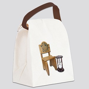 Timeout Chair Hourglass Canvas Lunch Bag