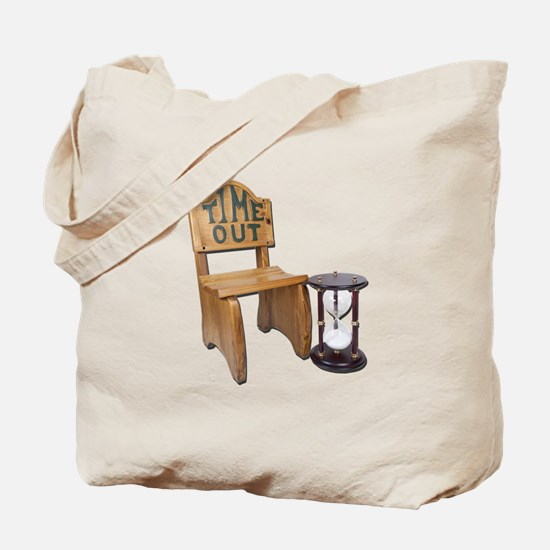 Timeout Chair Hourglass Tote Bag