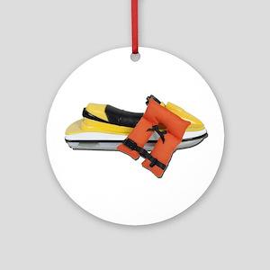 Life Vest Jet Ski Ornament (Round)