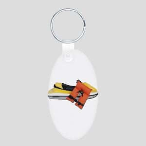 Life Vest Jet Ski Aluminum Oval Keychain