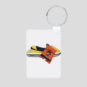Life Vest Jet Ski Aluminum Photo Keychain