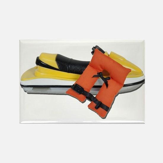 Life Vest Jet Ski Rectangle Magnet