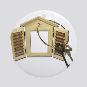 Shuttered Window Keys Ornament (Round)