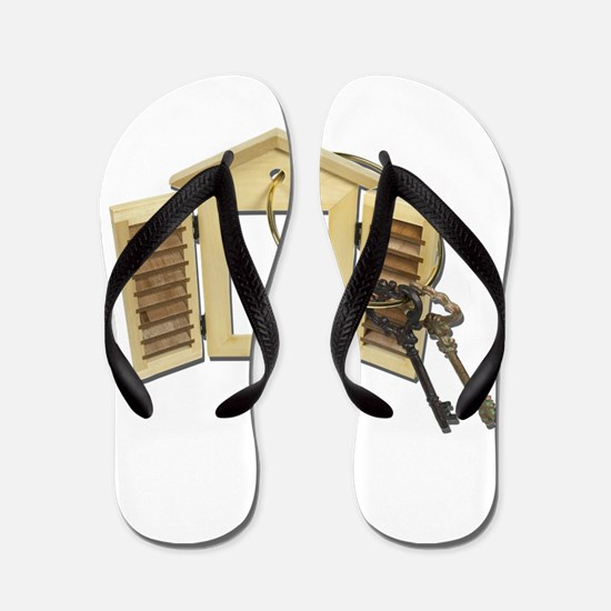 Shuttered Window Keys Flip Flops