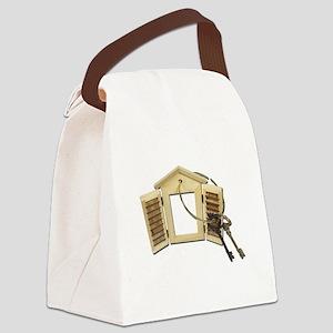 Shuttered Window Keys Canvas Lunch Bag