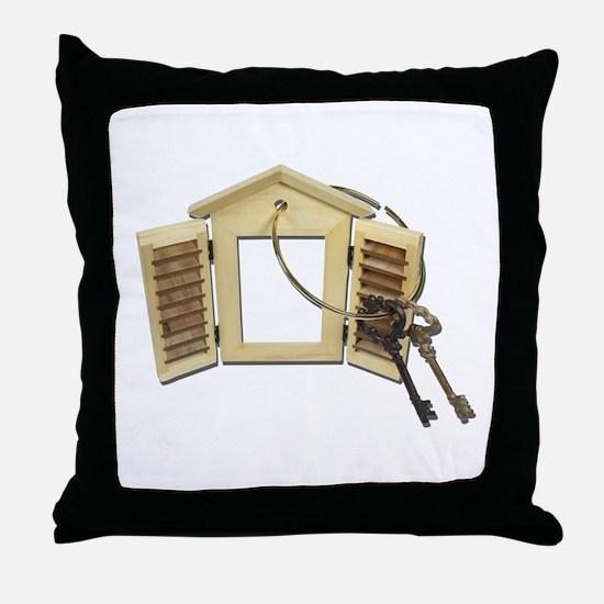 Shuttered Window Keys Throw Pillow