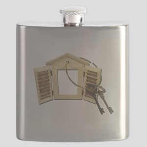 Shuttered Window Keys Flask