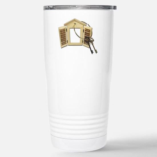 Shuttered Window Keys Stainless Steel Travel Mug