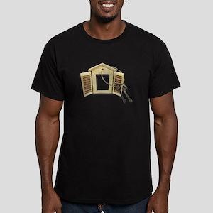 Shuttered Window Keys Men's Fitted T-Shirt (dark)