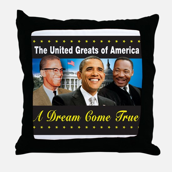 The United Greats Of America Throw Pillow