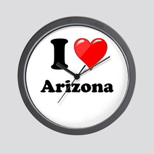 I Heart Love Arizona Wall Clock