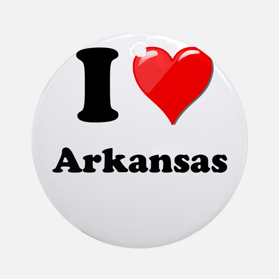 I Heart Love Arkansas.png Ornament (Round)