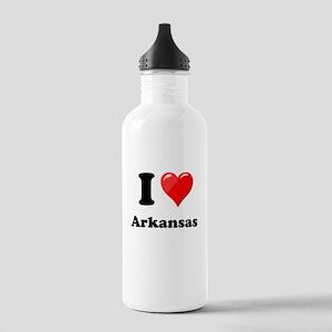 I Heart Love Arkansas Stainless Water Bottle 1