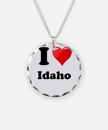 I Heart Love Idaho.png Necklace