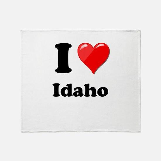 I Heart Love Idaho.png Throw Blanket