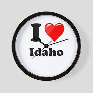 I Heart Love Idaho Wall Clock