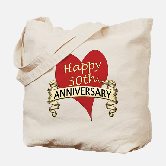 Funny 50th anniversary Tote Bag