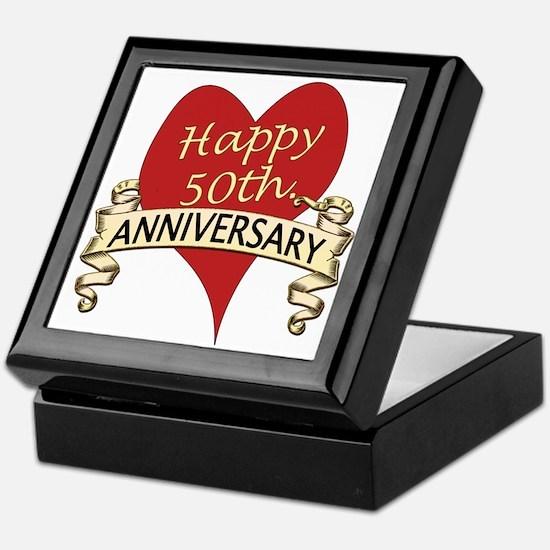 Cute 50th wedding anniversary Keepsake Box