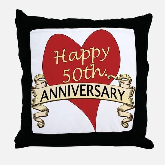 Cute 50th wedding anniversary Throw Pillow