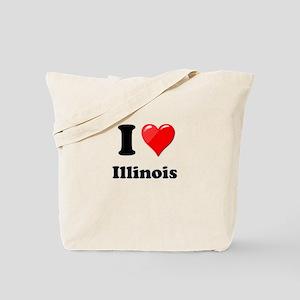 I Heart Love Illinois Tote Bag