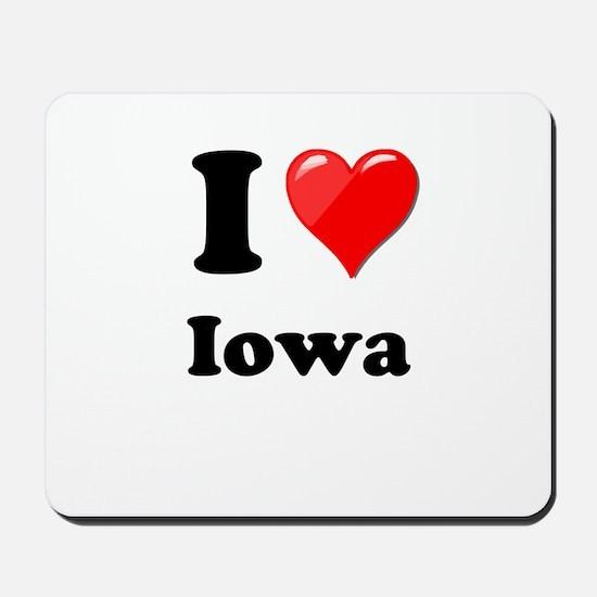 I Heart Love Iowa.png Mousepad