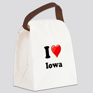 I Heart Love Iowa Canvas Lunch Bag