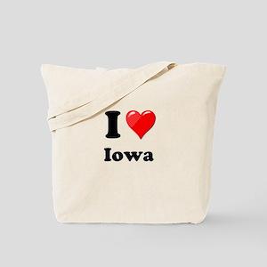 I Heart Love Iowa Tote Bag