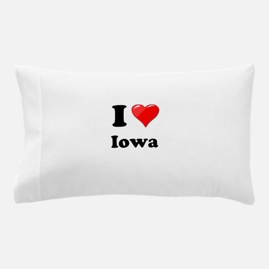 I Heart Love Iowa.png Pillow Case